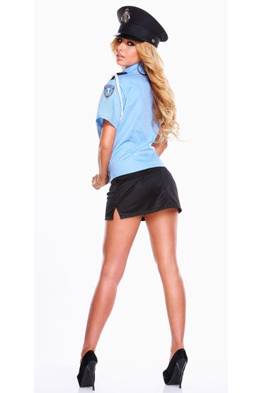 Hustler Полицейский Рубашка, юбочка и фуражка