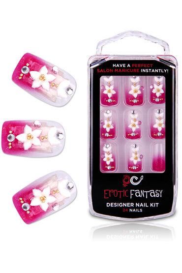 Erotic Fantasy Spring Flower Акриловые типсы с розовым маникюром