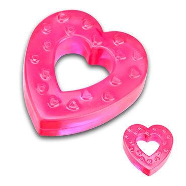 Erotic Fantasy кольцо, розовое В форме сердца