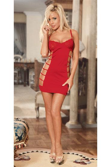 Electric Lingerie платье, красное С вырезами по бокам