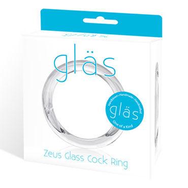 Glas Zeus Small Прозрачное кольцо ручной работы из стекла