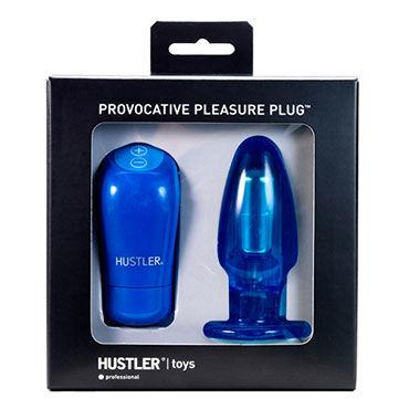 Hustler Provocative Plug Синяя анальная пробка с 4-мя скоростями