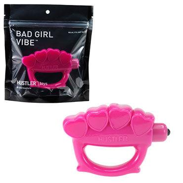 Hustler Bad Girl Vib, розовый Вибратор-кастет
