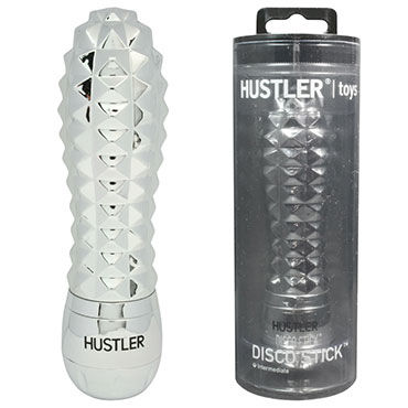 Hustler Disco Stick, серебро С переливающимися гранями, 9 см