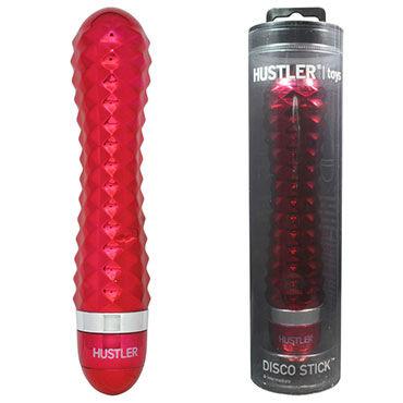 Hustler Disco Stick, алый С переливающимися гранями, 14 см