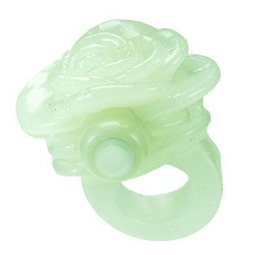 Hustler Gossip Ring, зеленый Насадка на палец в виде цветка