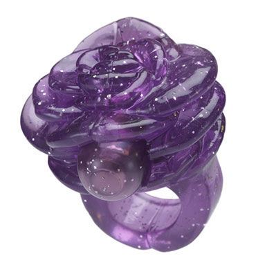 Hustler Gossip Ring, фиолетовый Насадка на палец в виде цветка