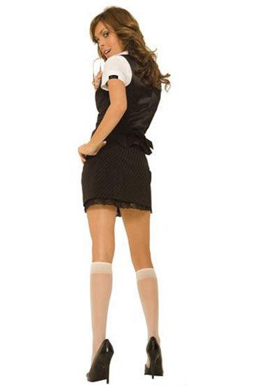 Hustler костюм Жакет и юбочка в тонкую полосочку