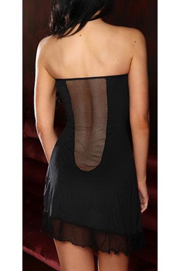 Hustler платье, черное Без бретелей