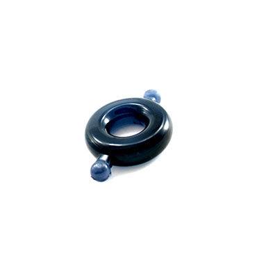 Lucom кольцо, черное, C ушками, из эластомера