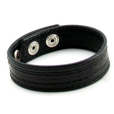 Lucom кольцо, черное Из змеиной кожи