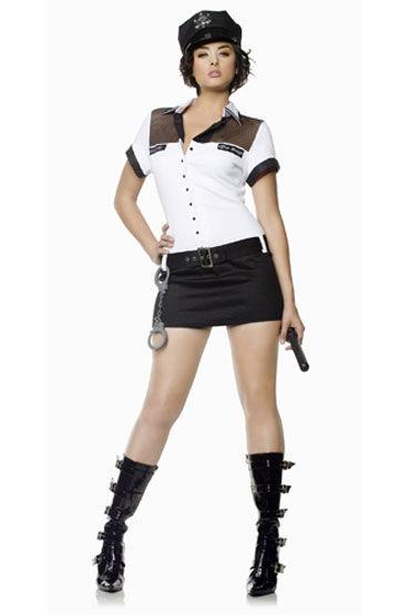 Seven til Midnight Офицер Мини-платье с наручниками и дубинкой