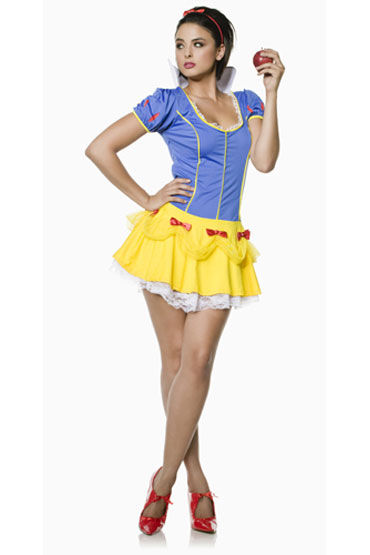 Seven til Midnight Белоснежка Яркое мини-платье с воротником-стоечкой