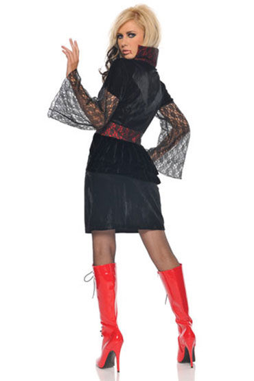Seven til Midnight Вампирша Велюровое платье и повязка на шею
