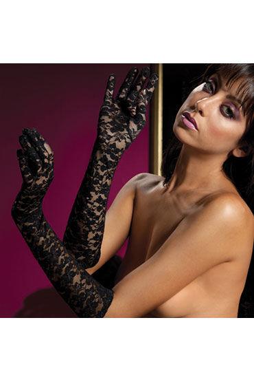 Seven til Midnight перчатки, черные, Из цветочного гипюра - Размер Универсальный (XS-L)