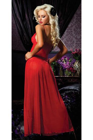 Seven til Midnight комплект, красный Элегантная длинная сорочка и стринги