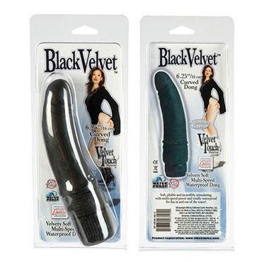 California Exotic Black Velvet Curved Dong Водонепроницаемый вибратор-реалистик