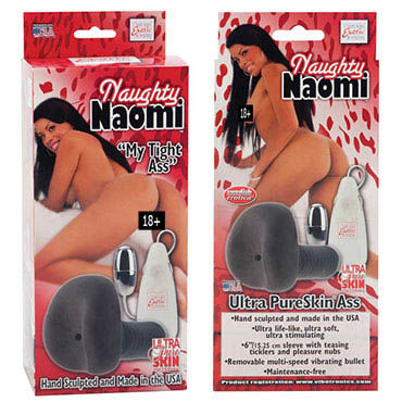 California Exotic Naughty Naomi Смуглая попка  с вибрацией