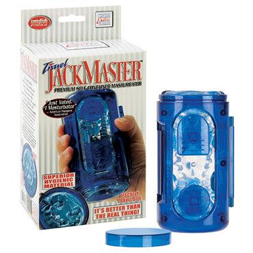 California Exotic Jack Master, синий, Мастурбатор в пластиковой колбе
