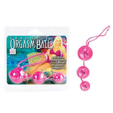 California Exotic Graduated Orgasm Balls, розовый, Три вагинальных шарика