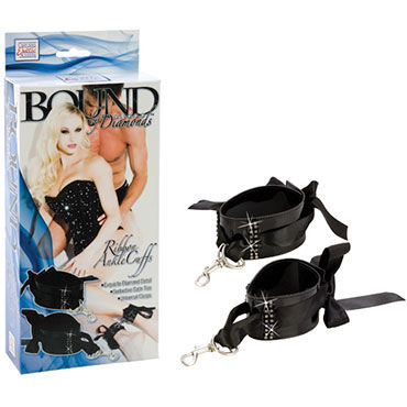 California Exotic Bound by Diamonds Ribbon Ankle Cuffs, Фиксаторы для ног