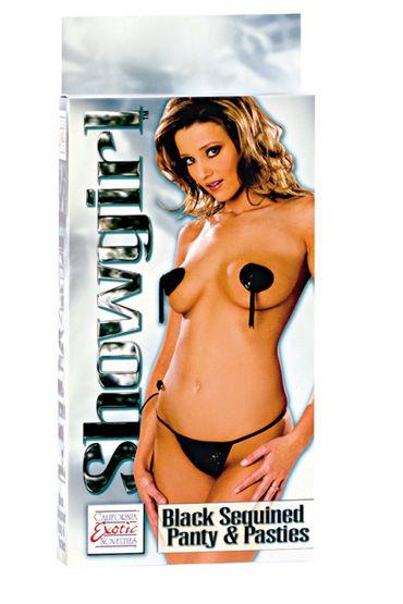 California Exotic Showgirl, Трусики и сердечки на грудь - Размер Универсальный (XS-L)