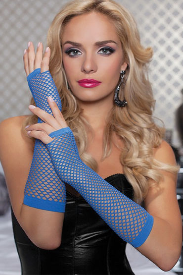 Seven til Midnight перчатки, синие, В сеточку - Размер Универсальный (XS-L)