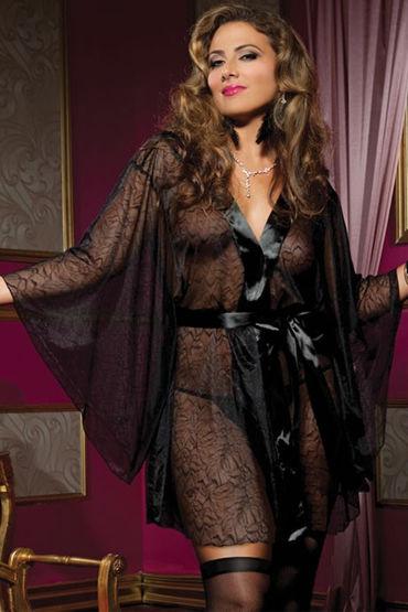 Seven til Midnight халат, С расклешенными рукавами - Размер Универсальный плюс (XL-XXXL) от condom-shop.ru