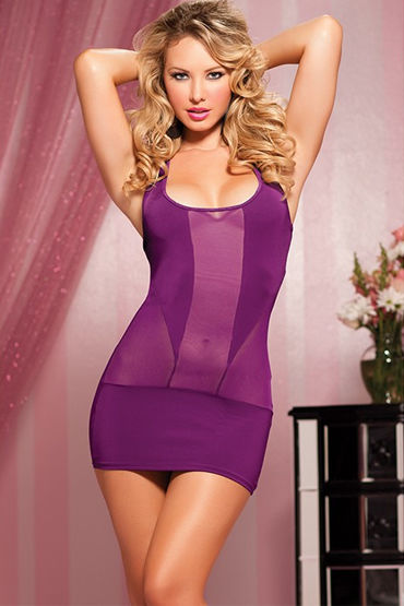 Seven til Midnight мини-платье, фиолетовое, Облегающего кроя - Размер Универсальный (XS-L)