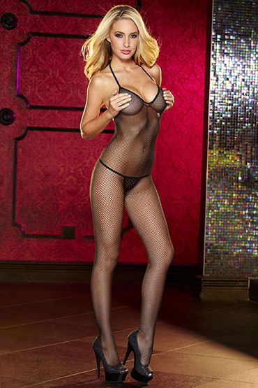 Hustler Crotchless Fishnet Bodystocking, �������� �������� � �������� ������ - ������ ������������� (XS-L)