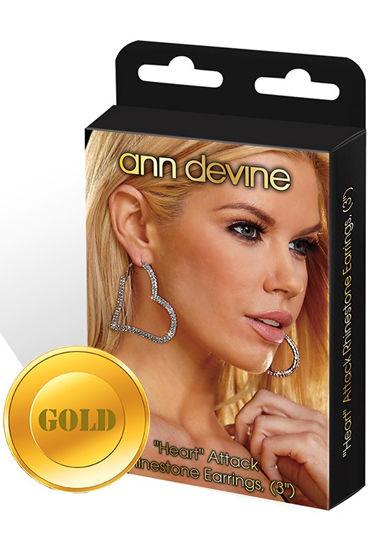 Ann Devine Heart Attack Earrings, золотой, Игривые сережки-сердечки
