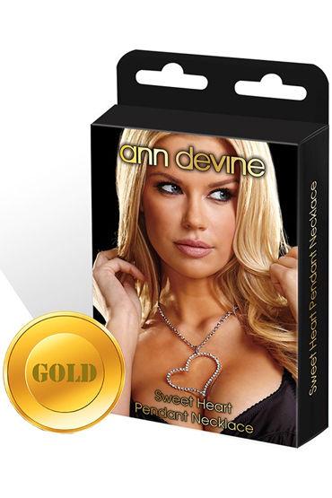 Ann Devine Sweet Heart, золотой, Цепочка с кулоном