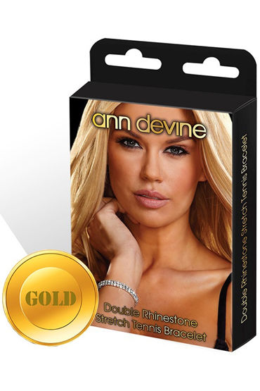 Ann Devine Stretch Tennis Bracelet, золотой, Браслет из кристаллов