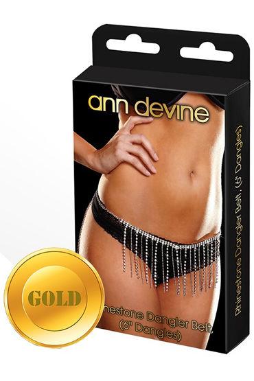 Ann Devine Dangler Belt, золотой, Юбочка из кристаллов