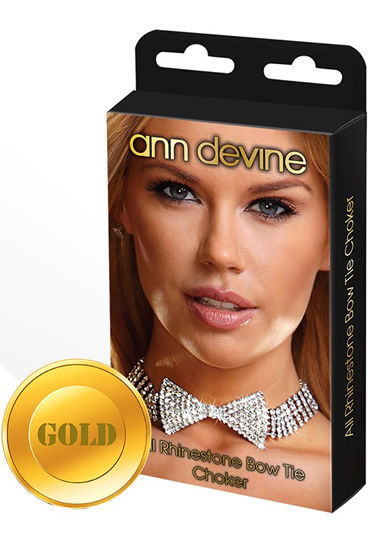 Ann Devine Bow Tie Choker, золотой, Ожерелье в форме бабочки