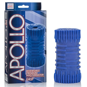 California Exotic Apollo Reversible Premium Masturbator Grip, синий, Двусторонний мастурбатор