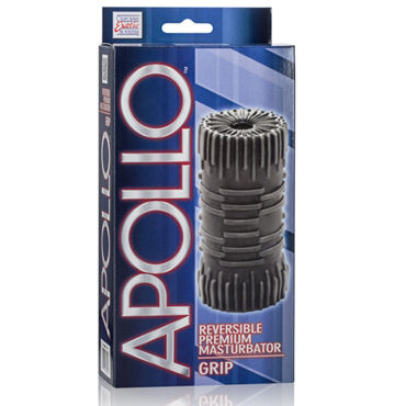 California Exotic Apollo Reversible Premium Masturbator Grip, черный Двусторонний мастурбатор