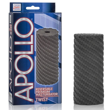California Exotic Apollo Reversible Premium Masturbator Twist, черный Двусторонний мастурбатор