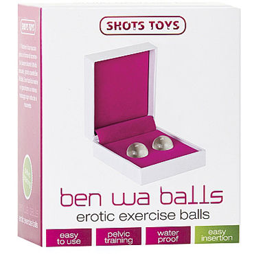 Shots Toys Ben Wa Balls Erotic Exercise Вагинальные шарики из стекла