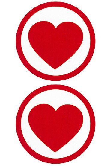 Shots Toys Nipple Sticker Round Hearts, �������, ������� � ����� ������ � �����