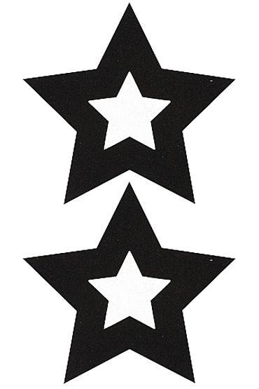 Shots Toys Nipple Sticker Stars, черные Пэстисы в форме звездочек