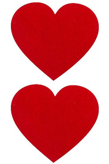 Shots Toys Nipple Sticker Hearts, красные, Пэстисы в форме сердечек от condom-shop.ru