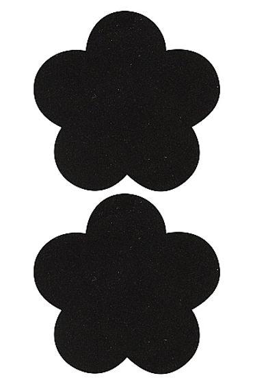 Shots Toys Nipple Sticker Blossom, черные Пэстисы в форме цветочков