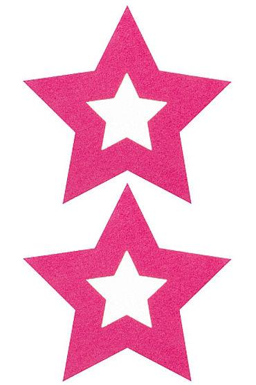 Shots Toys Nipple Sticker Stars, розовые Пэстисы в форме звездочек