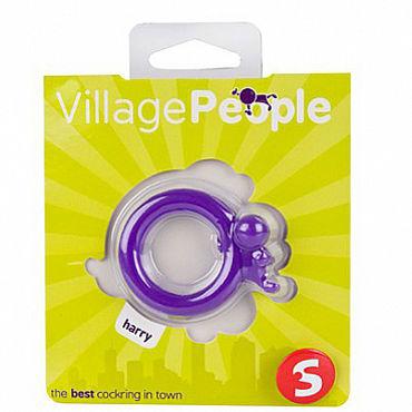 Shots Toys Village People Harry Эрекционное кольцо, с клиторальным стимулятором в виде человечка