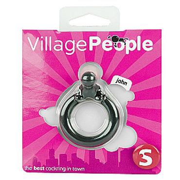 Shots Toys Village People John Эрекционное кольцо, с клиторальным стимулятором в виде человечка