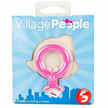 Shots Toys Village People Sam Эрекционное кольцо, с клиторальным стимулятором в виде человечка