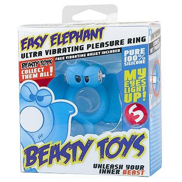 Shots Toys Easy Elephant Эрекционное виброкольцо в виде слоника