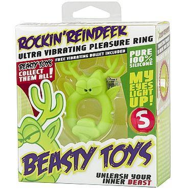 Shots Toys Rockin Reindeer Эрекционное виброкольцо в виде оленя