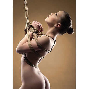 Shots Toys Shibari Rope, коричневая Веревка для связывания
